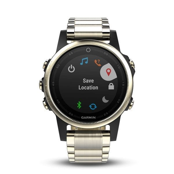 Champagne fēnix® 5S Sapphire with Metal Band