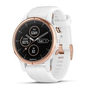 fēnix® 5S Plus Rose Gold-tone with White Band