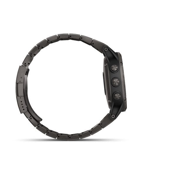 fēnix® 5 Plus Carbon Gray DLC Titanium with DLC Titanium Band