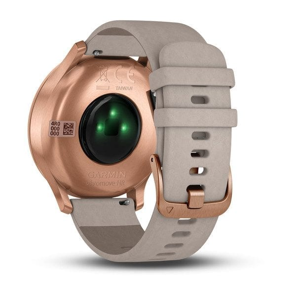 vívomove® HR, Premium, Rose Gold Case with Gray Suede Band