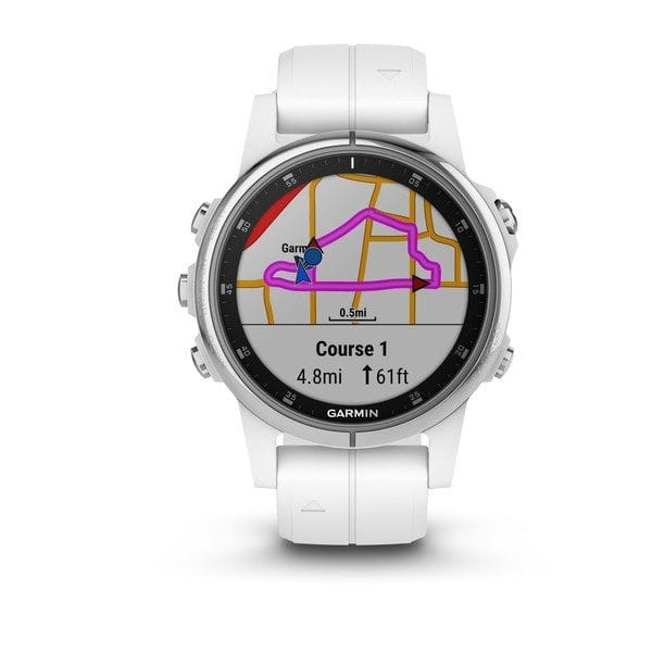 fēnix® 5S Plus Sapphire, White with White Band