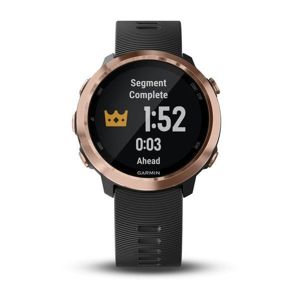 Forerunner® 645 Music Black with Rose-gold Hardware