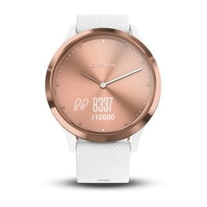 vívomove® HR, Sport, White with Rose Gold Hardware